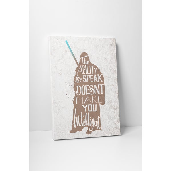Jackie Star Wars Quotes 'Qui Gon Jinn' Gallery Wrapped Canvas Wall Art
