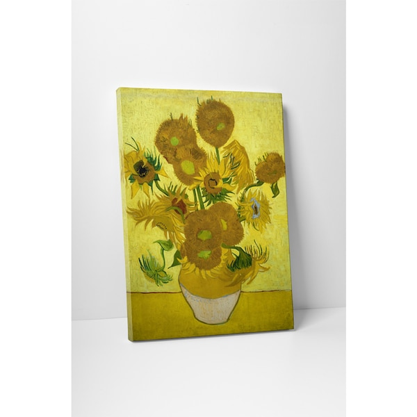 Classic Masters Vincent Van Gogh 'Another Vase of Sunflowers' Gallery Wrapped Canvas Wall Art