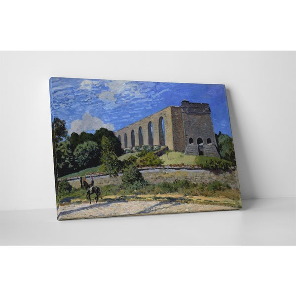 Classic Masters Alfred Sisley 'Aqueduct At Marly' Gallery Wrapped Canvas Wall Art 19764342
