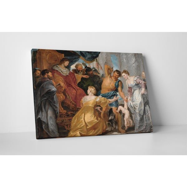 Classic Masters Rubens Paul Peter 'The Judgment of Solomon' Gallery-wrapped Canvas Wall Art
