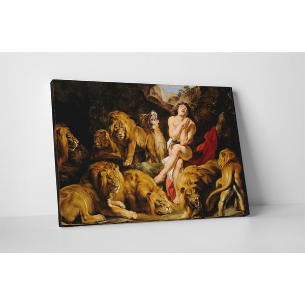 Classic Masters Rubens Paul Peter 'Daniel in the Lions Den' Gallery-wrapped Canvas Wall Art 19764424