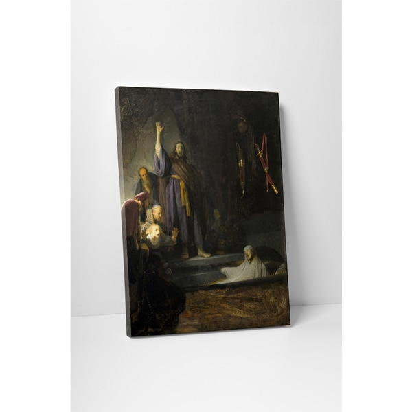 Classic Masters Rembrandt 'The Rasing of Lazarus' Gallery Wrapped Canvas Wall Art