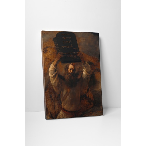 Classic Masters Rembrandt 'Moses with The Ten Commandments' Gallery-wrapped Canvas Wall Art