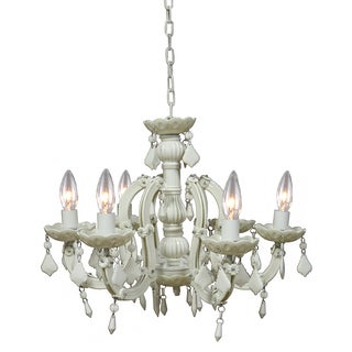 Emaleigh 6-light Off-white Acrylic Chandelier