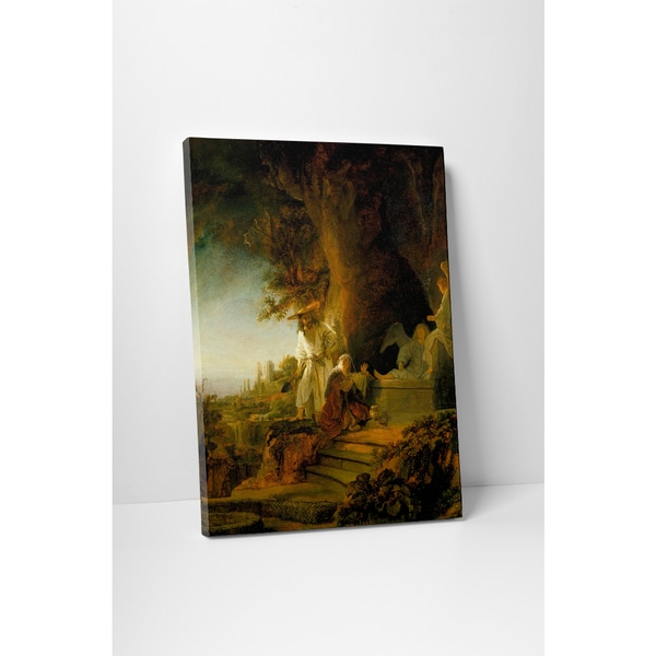 Classic Masters Rembrandt 'Christ And Mary Magdalene at the Tomb' Gallery-wrapped Canvas Wall Art