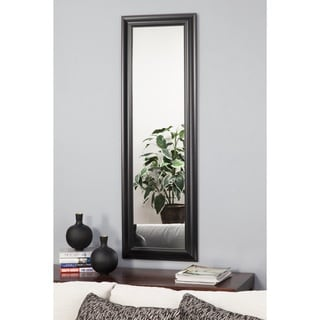 Sandberg Furniture Black Deluxe Full Length Over the Door Mirror