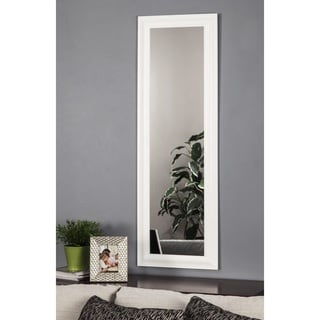 Sandberg Furniture White Deluxe Full Length Over the Door Mirror