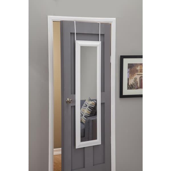 Sandberg Furniture White Deluxe Full Length Over the Door Mirror