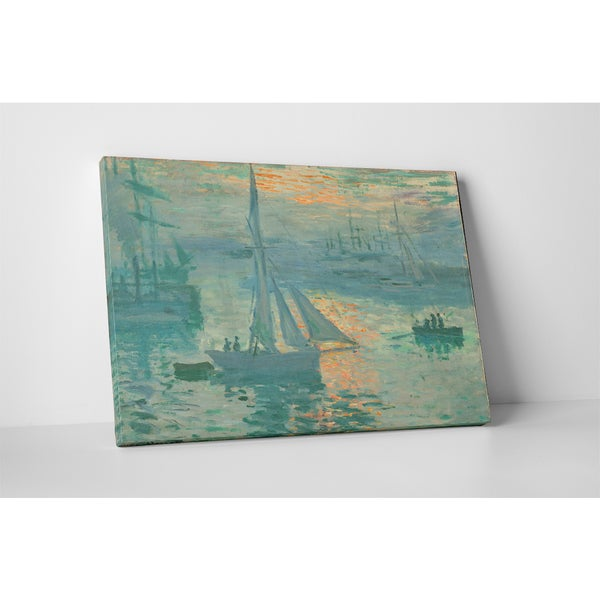 Classic Masters Claude Monet 'Sunrise' Gallery Wrapped Canvas Wall Art 19764525