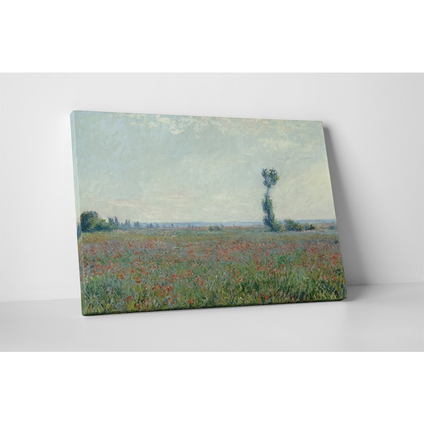 Classic Masters Claude Monet 'Poppy Field' Gallery-wrapped Canvas Wall Art 19764536