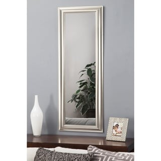 Sandberg Furniture Champagne Silver Deluxe Full Length Over the Door Mirror