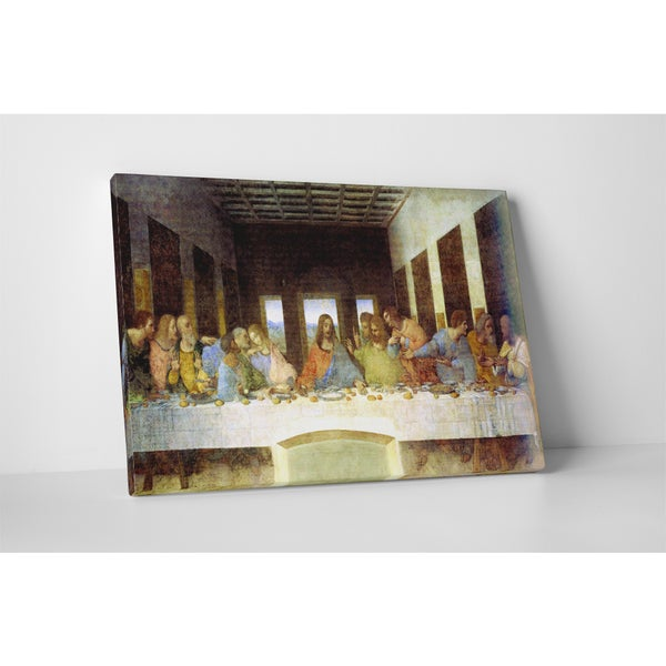 Classic Masters Leonardo Da Vinci 'The Last Supper' Gallery-wrapped Canvas Wall Art