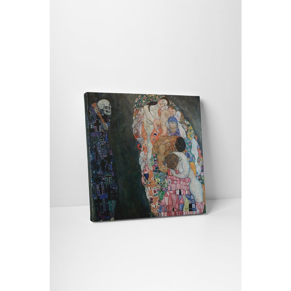 Classic Masters Gustav Klimt 'Death and Life' Gallery Wrapped Canvas Wall Art