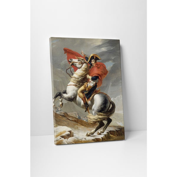 Classic Masters David Jacques-Louis 'Bonaparte Crossing the Alps' Gallery Wrapped Canvas Wall Art