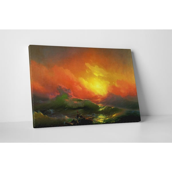 Classic Masters Ivan Aivazovsky 'The Ninth Wave' Gallery-wrapped Canvas Wall Art