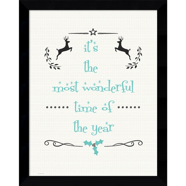 Framed Art Print 'Most Wonderful (Christmas)' by Jo Moulton 12 x 15-inch