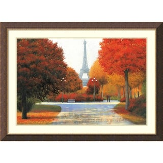 Framed Art Print 'Autumn in Paris Couple' by James Wiens 45 x 33-inch