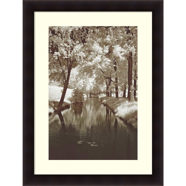 Framed Art Print 'Water Under the Bridge' by Ily Szilyagi 38 x 50-inch