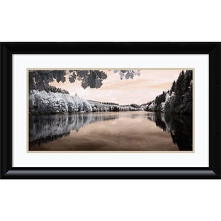 Framed Art Print 'The Lake' by Ilona Wellmann 32 x 20-inch