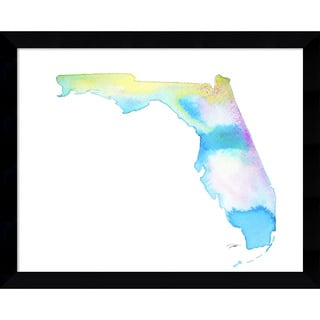 Framed Art Print 'Florida State Watercolor' by Jessica Durrant 15 x 12-inch