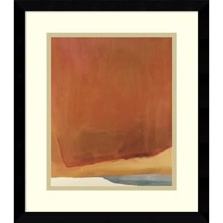 Framed Art Print 'Sunset Corner, 1969 (Abstract)' by Helen Frankenthaler 14 x 16-inch