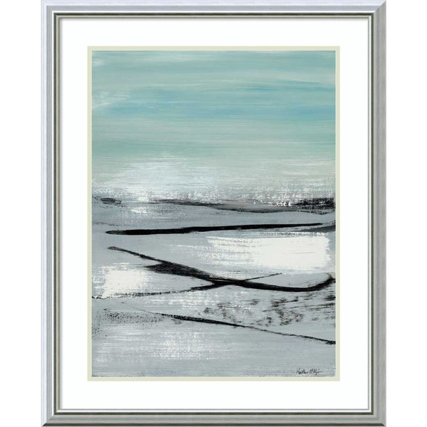 Framed Art Print 'Beach II: Abstract' by Heather McAlpine 25 x 31-inch