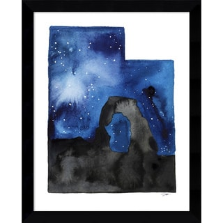 Framed Art Print 'Utah State Watercolor' by Jessica Durrant 12 x 15-inch