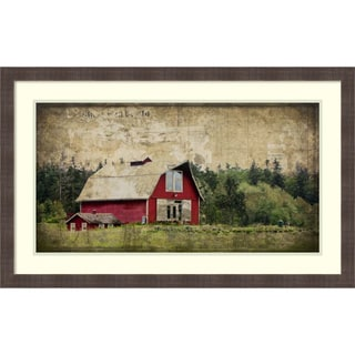 Framed Art Print 'Widby's Barn III' by Rachel Perry 37 x 23-inch