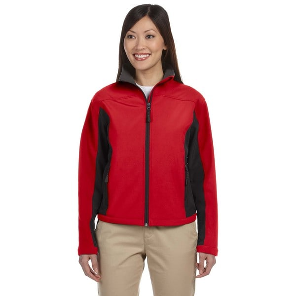 Soft Shell Women's Colorblock Red/Dark Charcoal Jacket