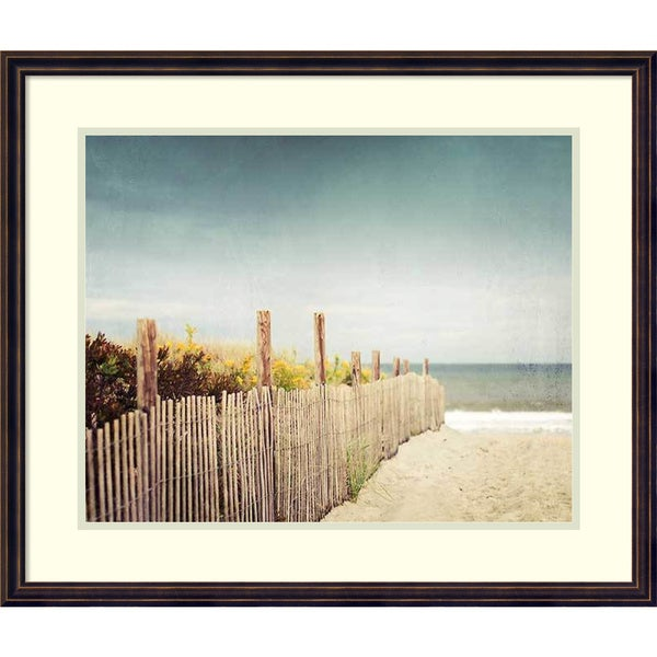 Framed Art Print 'Down to the Sea' by Carolyn Cochrane 27 x 23-inch