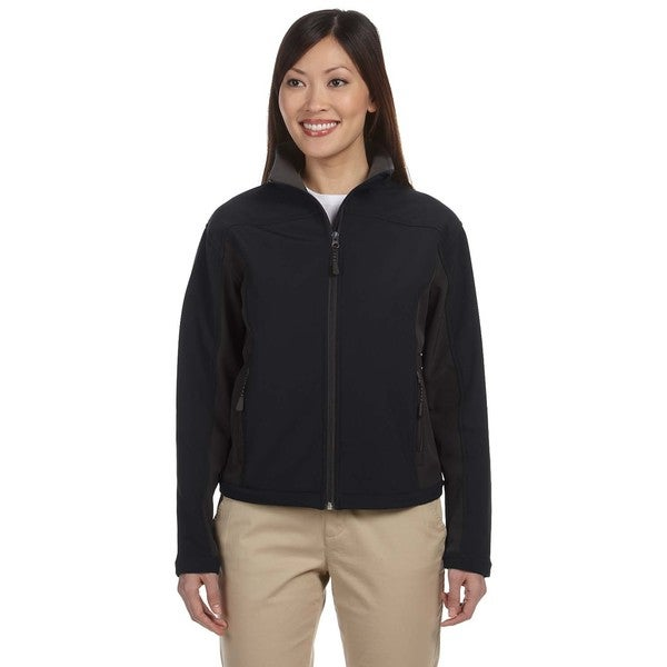 Soft Shell Women's Colorblock Black/Dark Charcoal Jacket