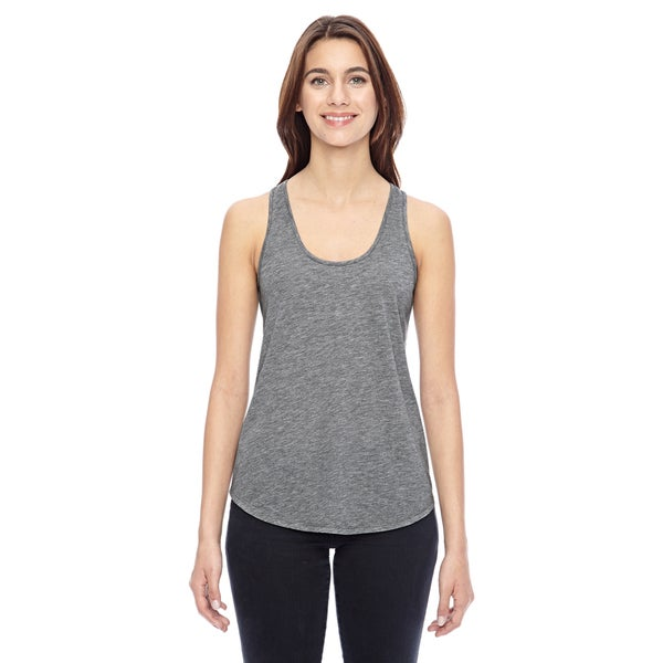 Shirtail Women's Heathered Dark Grey Tank