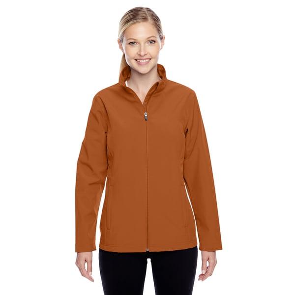 Leader Women's Soft Shell Sport Dusty Orange Jacket