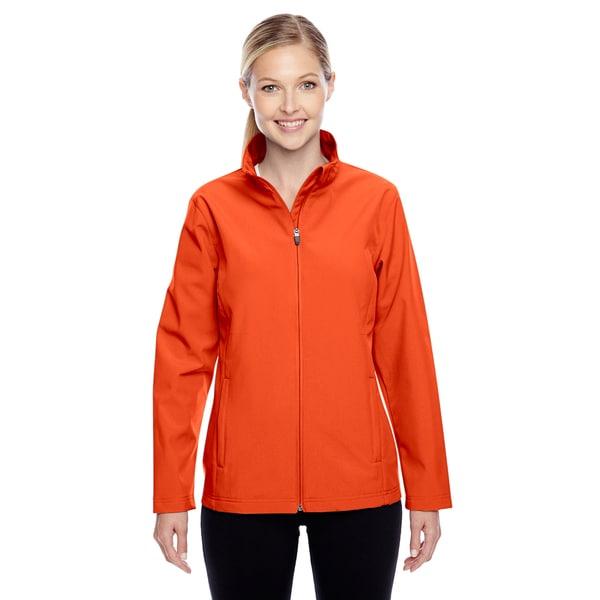 Leader Women's Soft Shell Sport Orange Jacket