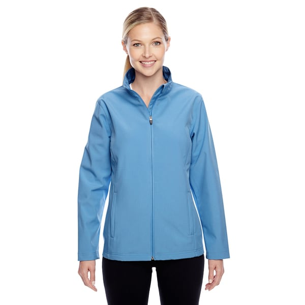 Leader Women's Soft Shell Sport Light Blue Jacket