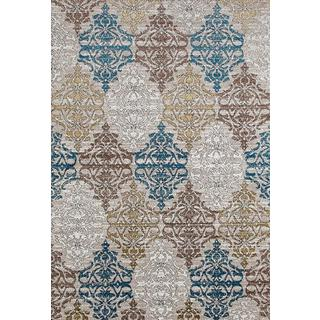 Persian Rugs Panel Designed Beverly Collection Area Rug (7'10 x 10'6)