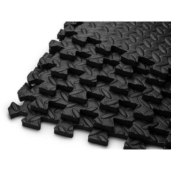 HemingWeigh EVA Black Foam Puzzle Exercise Mat