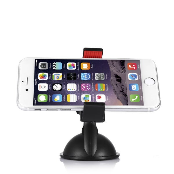 LAX Gadgets Universal Car Mount Holder with 360-degree Rotation for Smartphones and GPS Devices