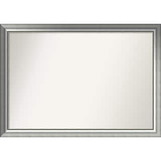 Wall Mirror Choose Your Custom Size - Extra Large, Vegas Burnished Silver Wood