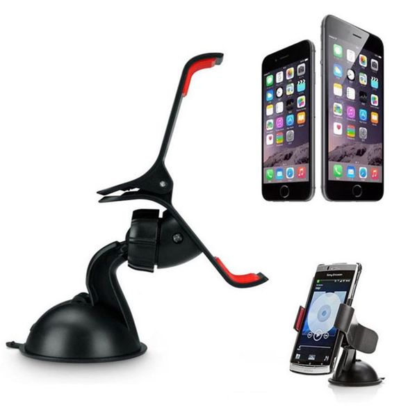 Universal Adjustable 360-degree Car Windshield-mount Cellphone Holder