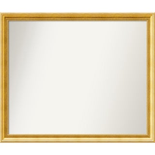 Wall Mirror Choose Your Custom Size - Large, Townhouse Gold Wood