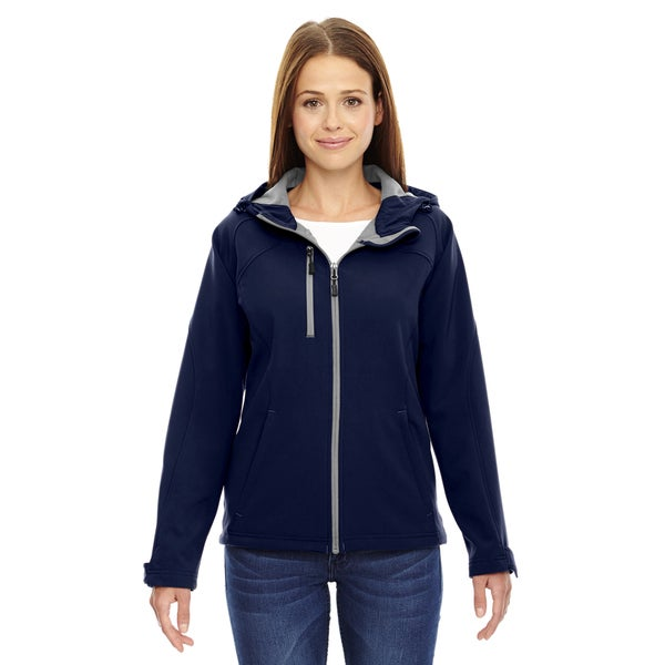 Prospect Two-Layer Fleece Bonded Women's Classic Navy 849 Soft Shell Hooded Jacket
