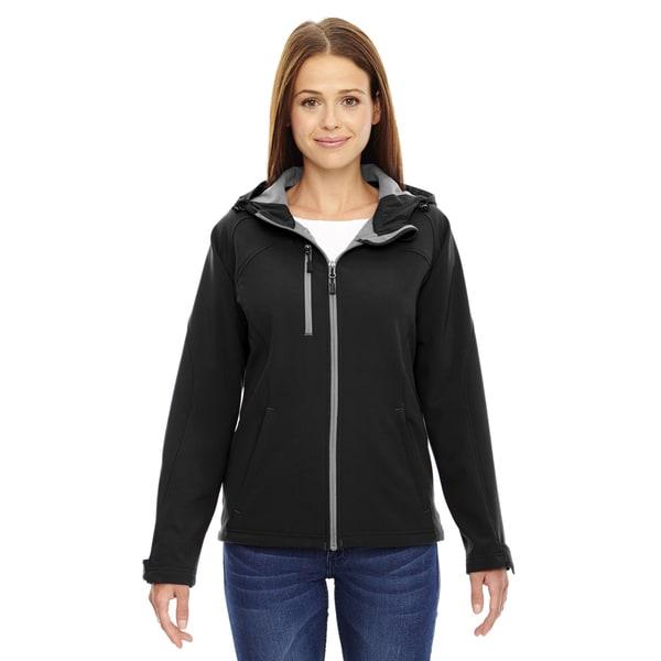 Prospect Two-Layer Fleece Bonded Women's Black 703 Soft Shell Hooded Jacket