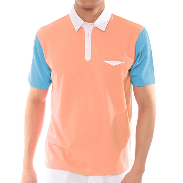 Steve Harvey Collection Color Block Polo