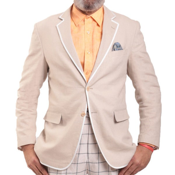 Steve Harvey Collection Linen Blend Blazer