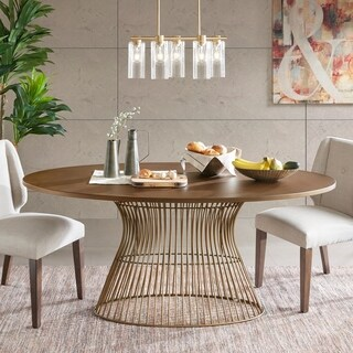 INK+IVY Mercer Bronze Oval Dining Table