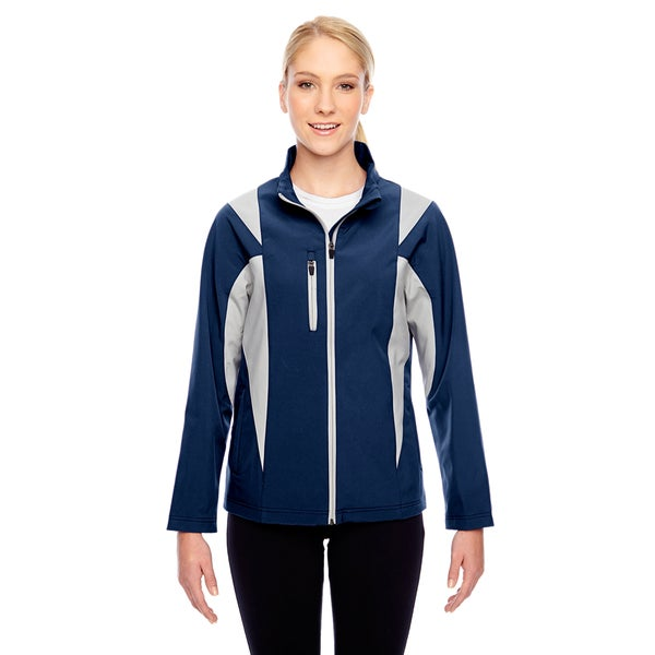Icon Women's Colorblock Soft Shell Sport Dark Navy/Silver Jacket