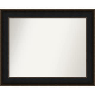 Wall Mirror Choose Your Custom Size - Medium, Mezzanine Espresso Wood
