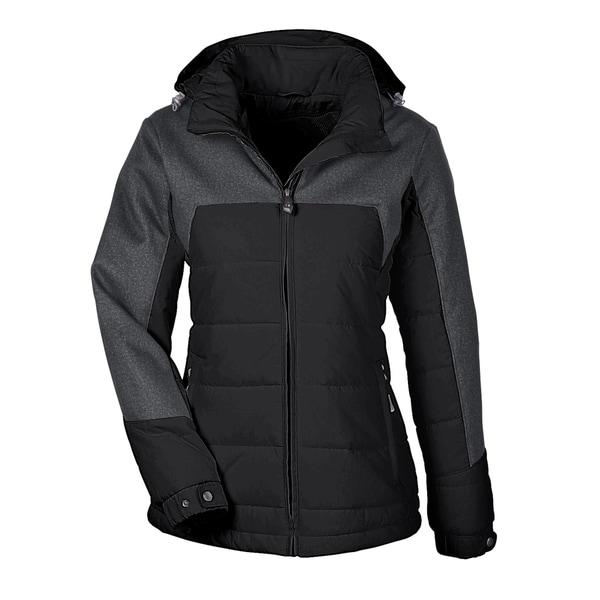 Excursion Women's Meridian Insulated With Melange Print Black/Dark Grey Heathered 703 Jacket