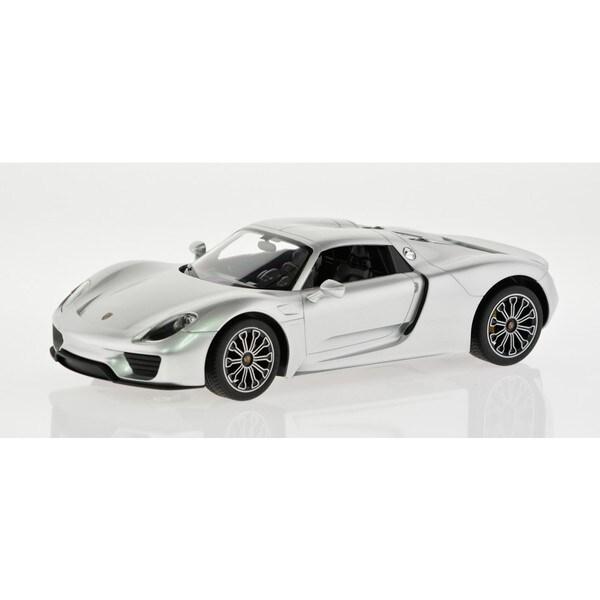 Rastar Silver 1:14 Porsche 918 Spyder 2.4GHz R/C Car